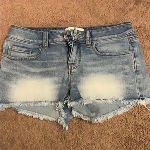 Pink denim shorts size 2